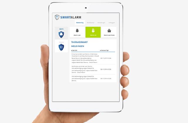 De app van SmartAlarm